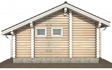 Фото #9: Красивый деревянный дом РС-182 из бревна