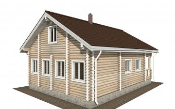 Фото #3: Красивый деревянный дом РС-177 из бревна