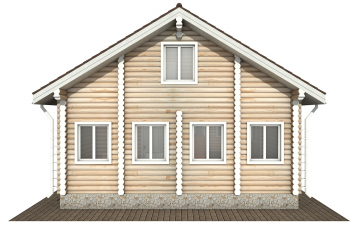 Фото #9: Красивый деревянный дом РС-177 из бревна