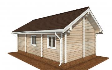 Фото #3: деревянный дом ПДБ-72 из клееного бруса купить за 6031949 (цена «Под ключ»)