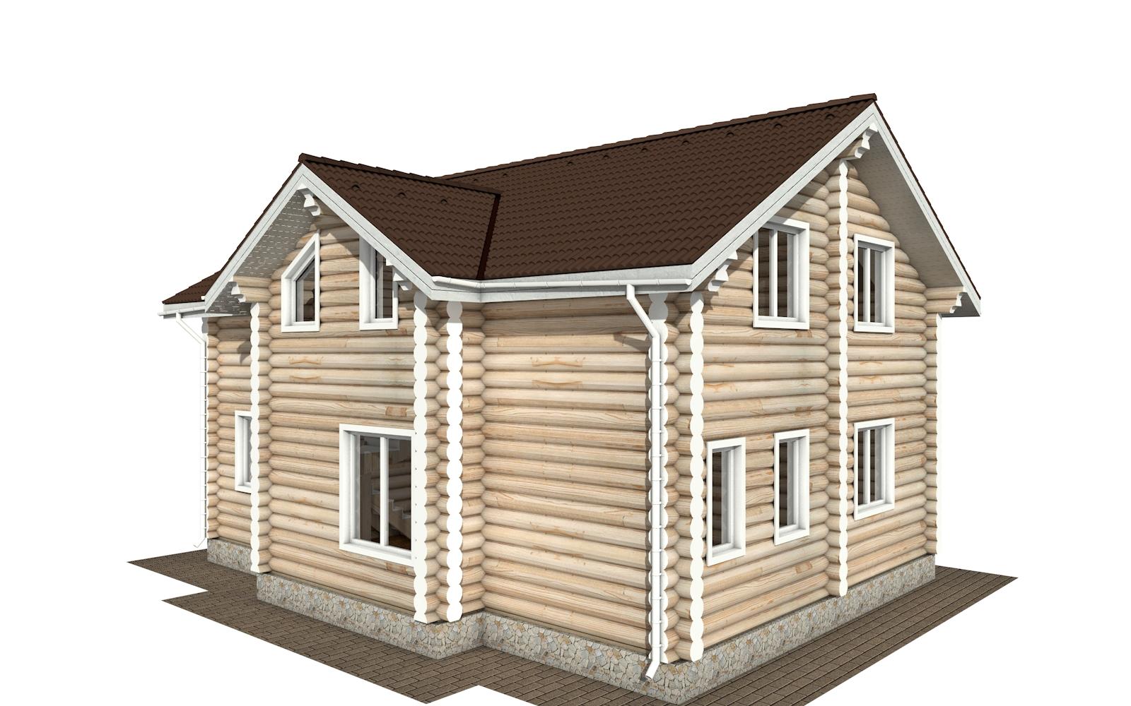 Фото #3: Красивый деревянный дом РС-178 из бревна