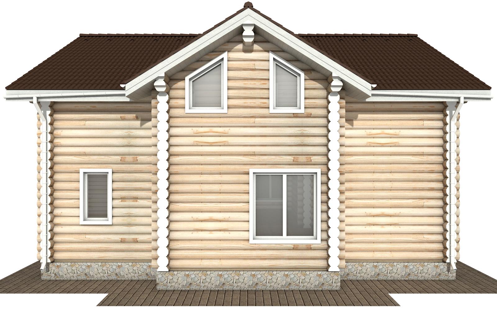 Фото #9: Красивый деревянный дом РС-178 из бревна