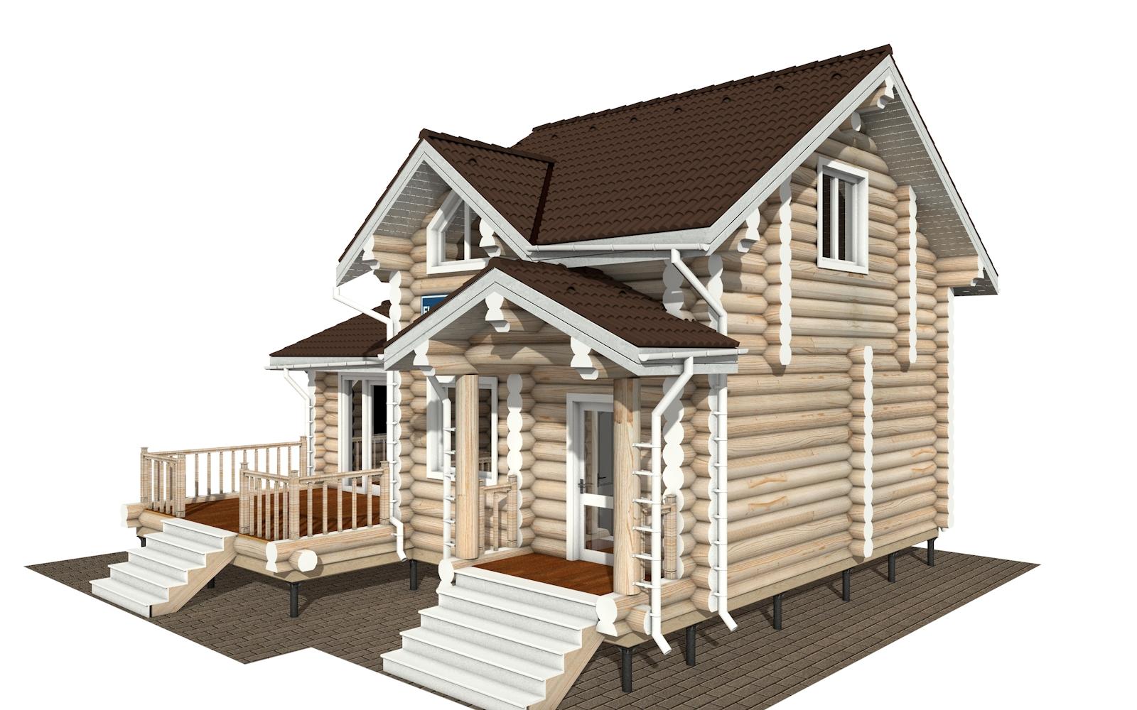 Фото #2: Красивый деревянный дом РС-180 из бревна