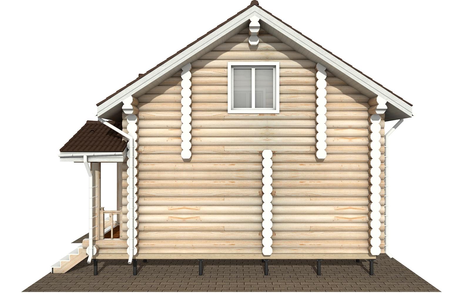 Фото #10: Красивый деревянный дом РС-180 из бревна