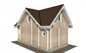 Фото #2: Красивый деревянный дом РС-181 из бревна