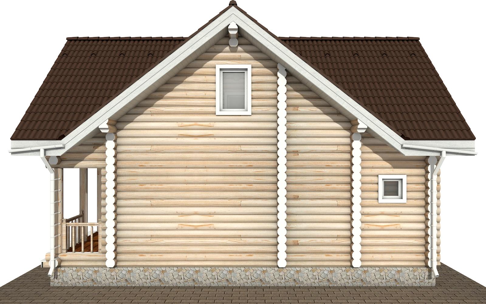 Фото #10: Красивый деревянный дом РС-181 из бревна
