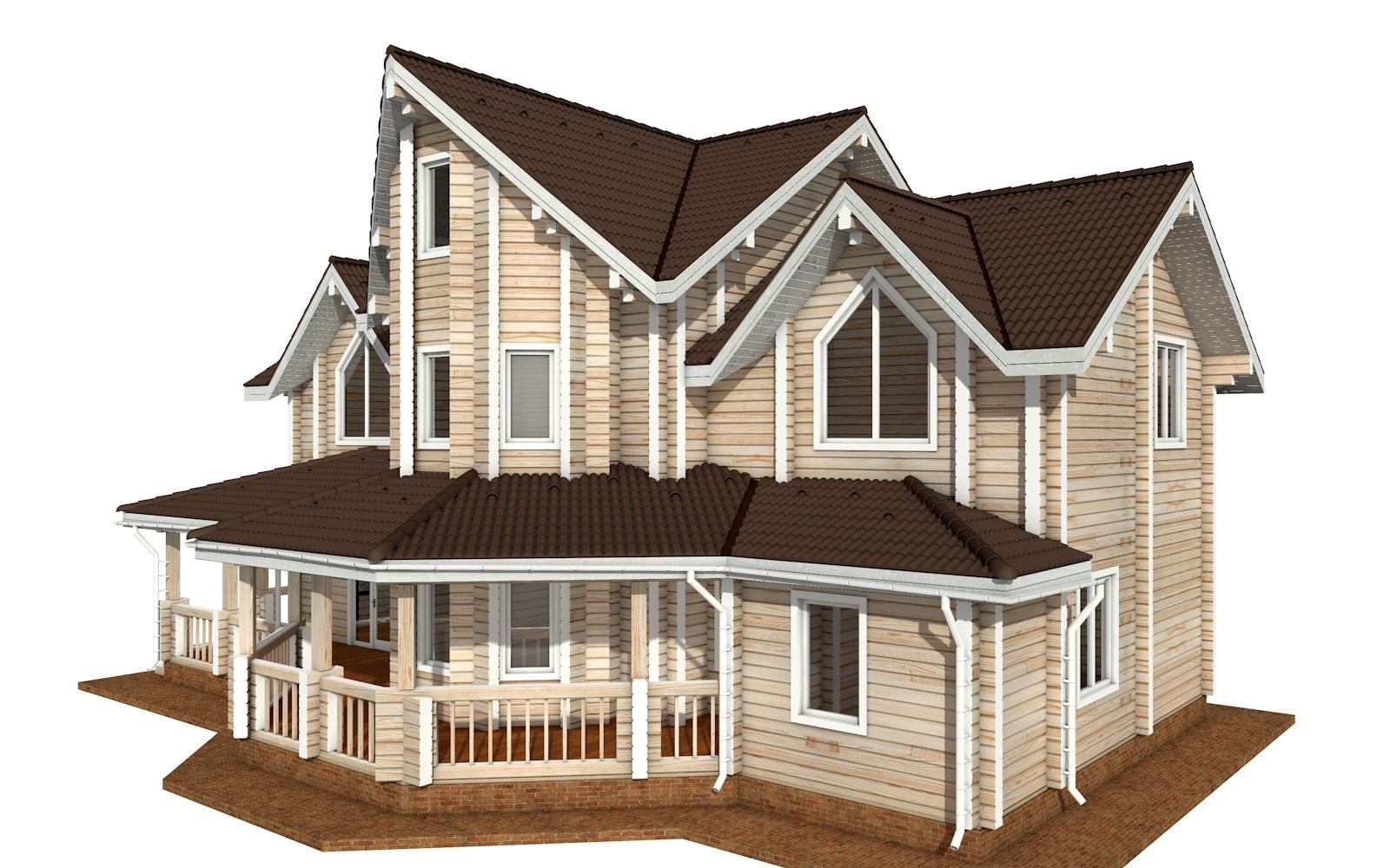 Фото #2: деревянный дом ПДБ-73 из клееного бруса купить за 30945613 (цена «Под ключ»)