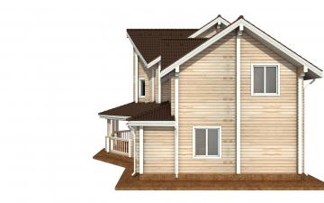 Фото #10: деревянный дом ПДБ-73 из клееного бруса купить за 30945613 (цена «Под ключ»)