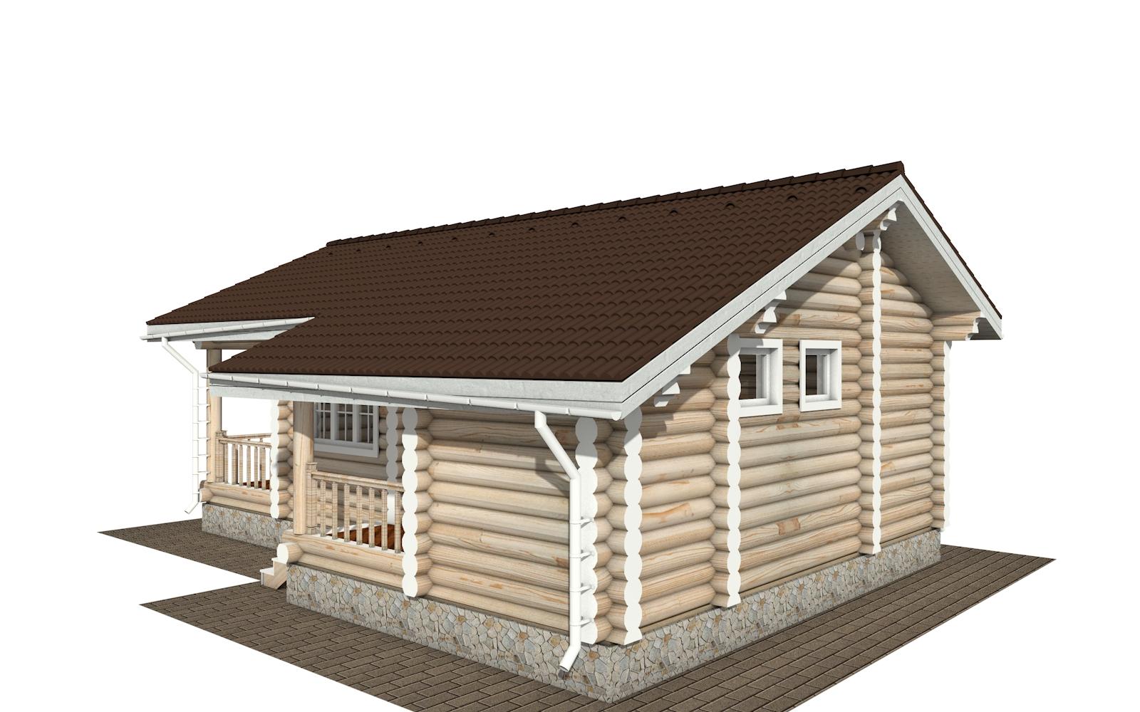 Фото #2: Красивый деревянный дом РС-182 из бревна