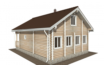 Фото #4: Красивый деревянный дом РС-177 из бревна