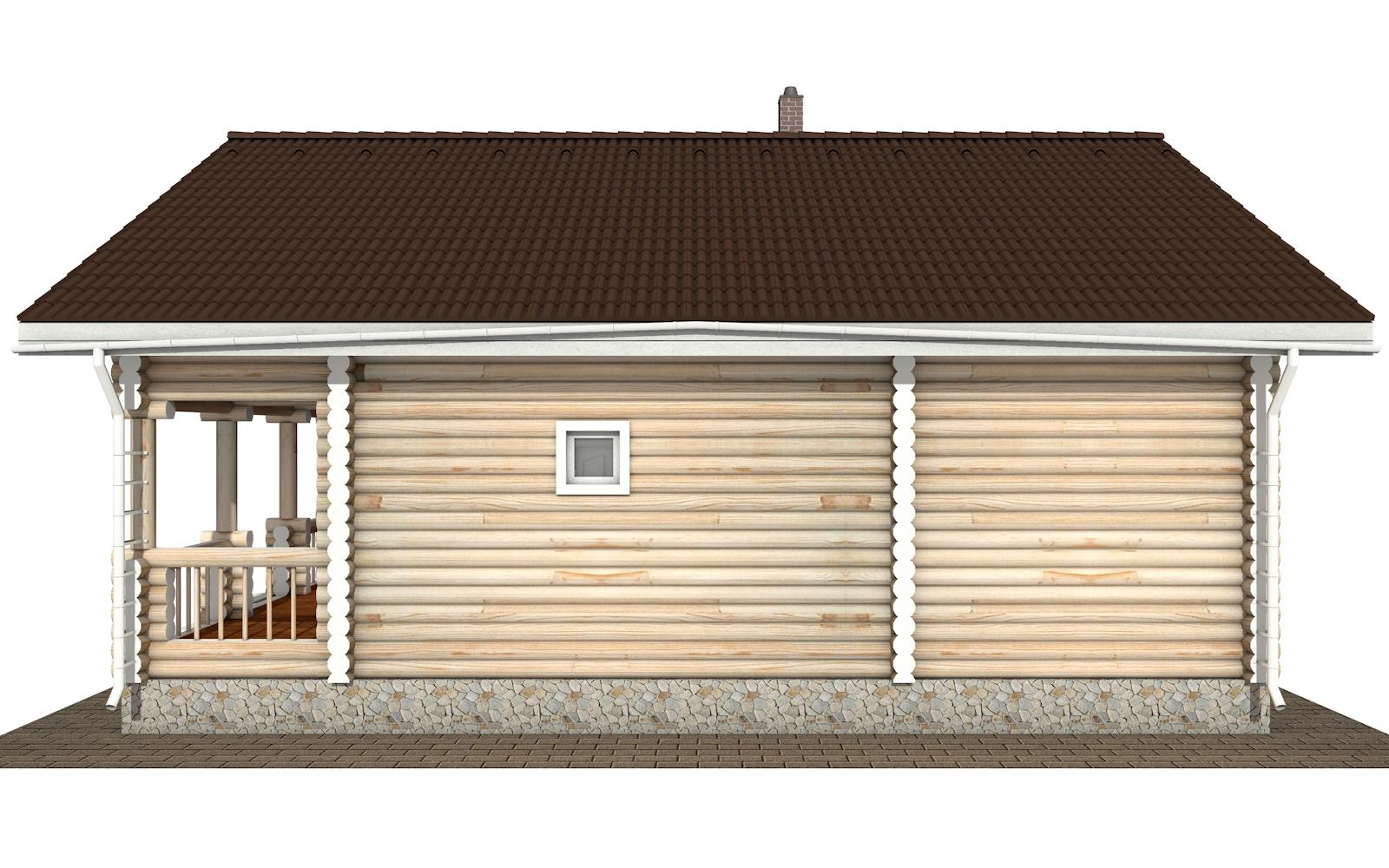 Фото #10: Красивый деревянный дом РС-177 из бревна