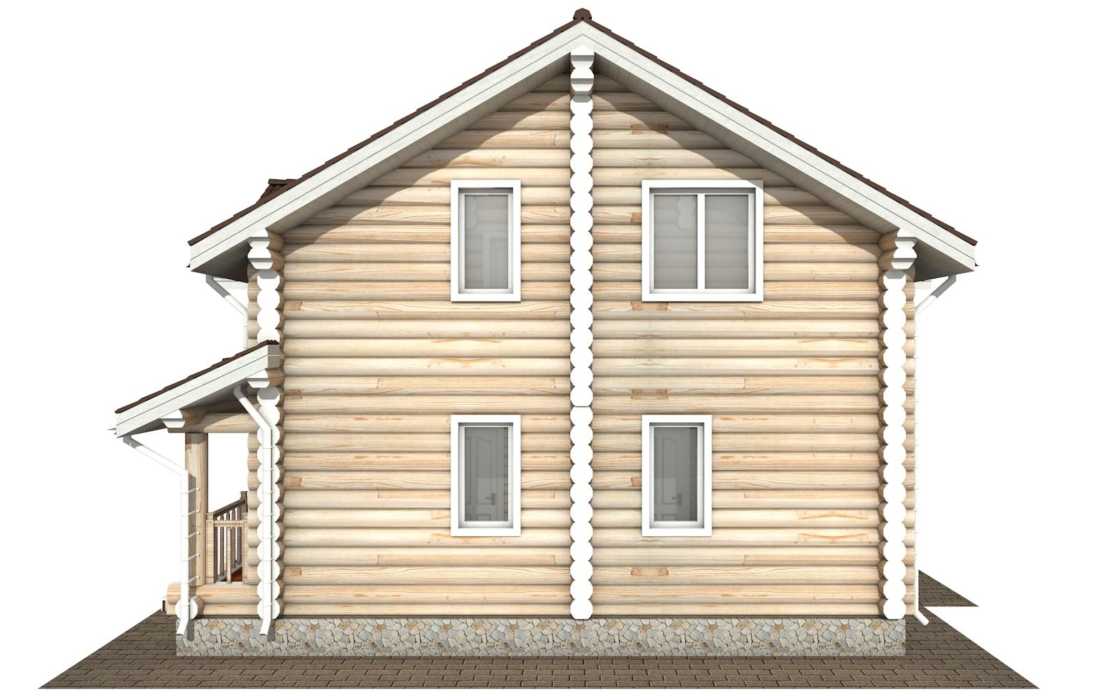 Фото #10: Красивый деревянный дом РС-178 из бревна