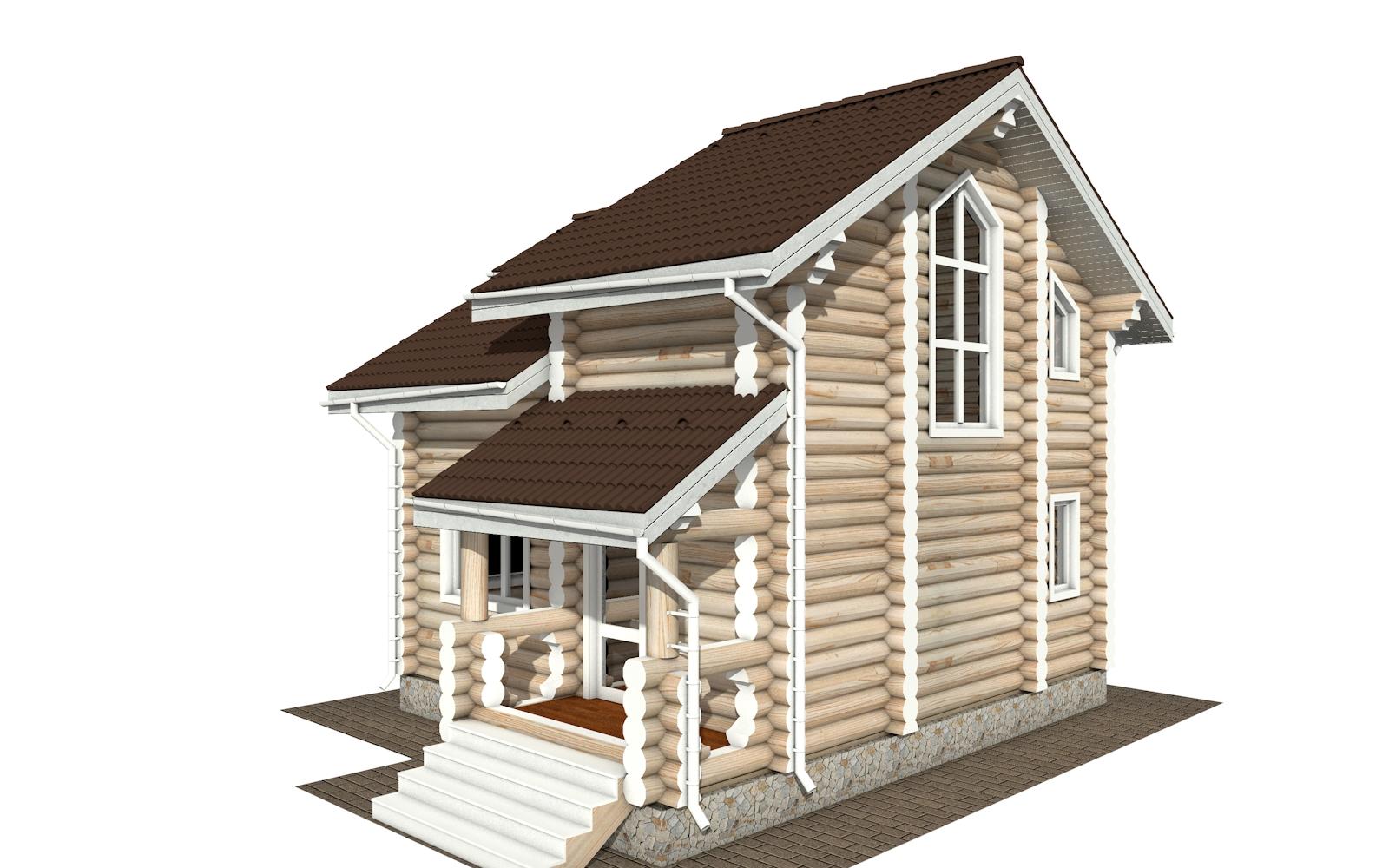 Фото #2: Красивый деревянный дом РС-179 из бревна