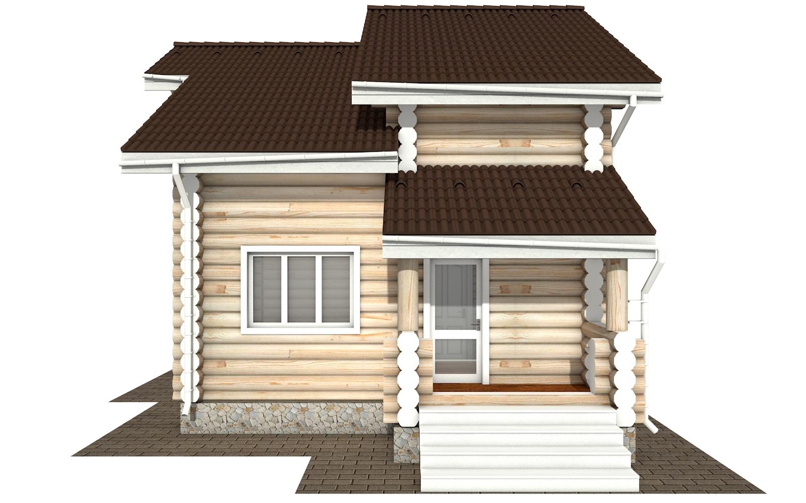 Фото #10: Красивый деревянный дом РС-179 из бревна