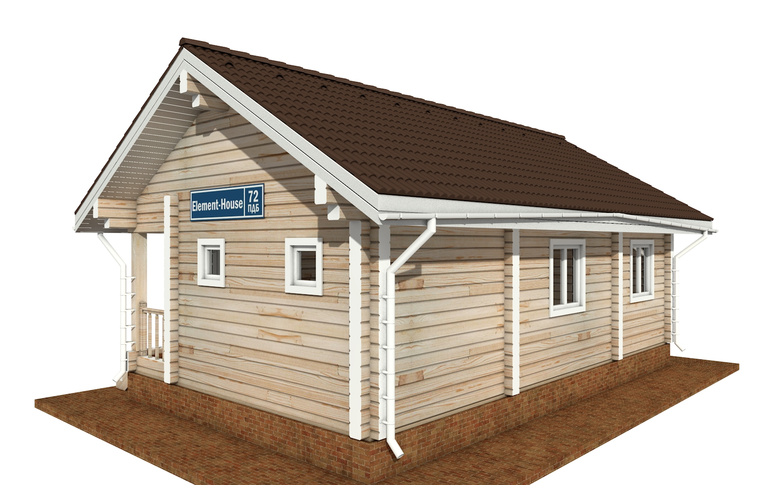 Фото #4: деревянный дом ПДБ-72 из клееного бруса купить за 6031949 (цена «Под ключ»)