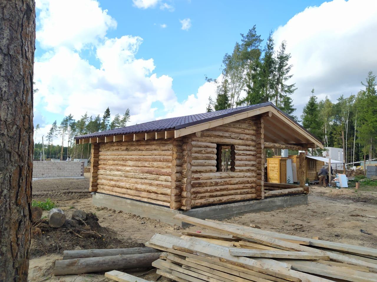 Гостевой дом из окорённого бревна 220 мм. в Балашихе, МО
