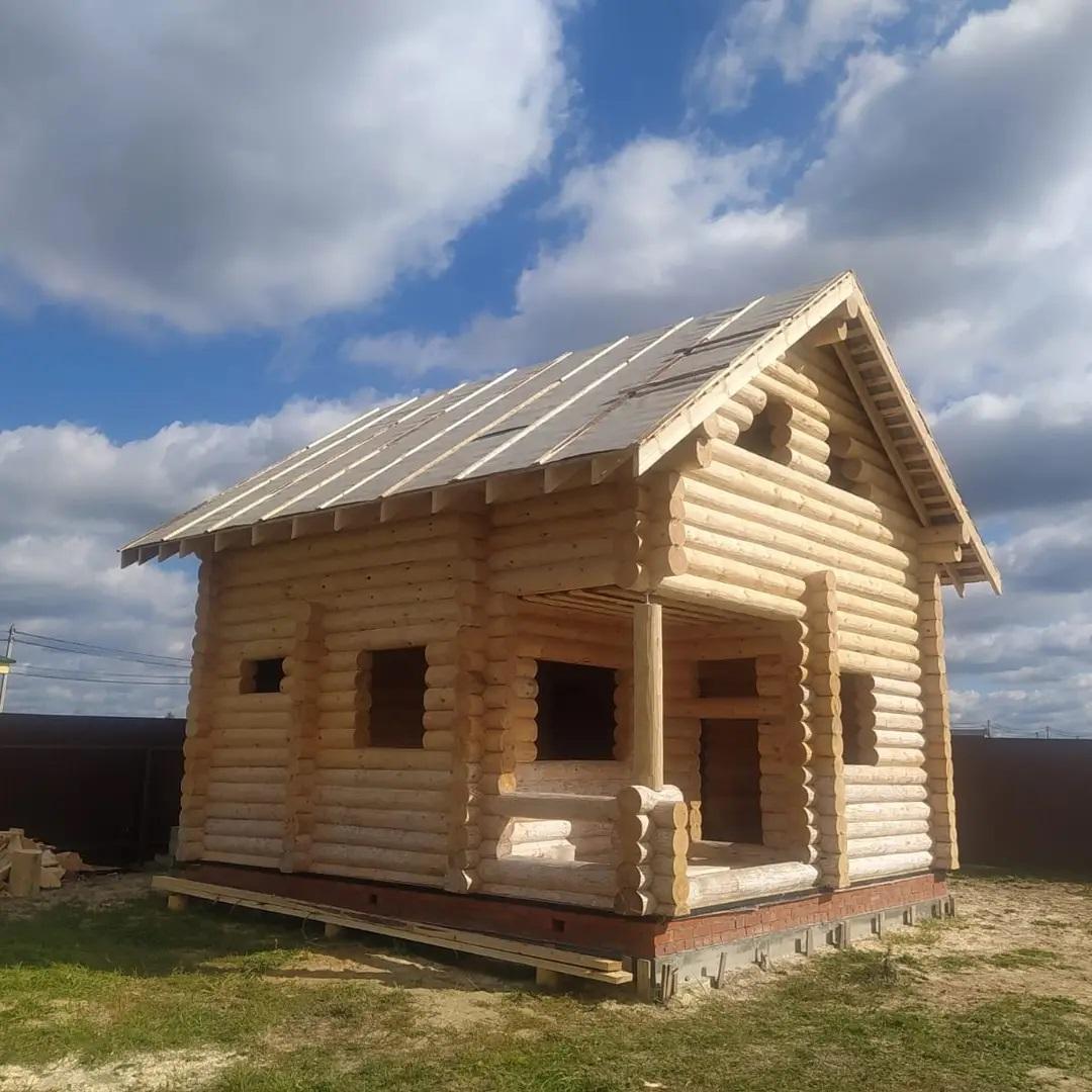 Двухэтажная баня из бревна ручной рубки 220 мм. в Егорьевском районе , МО