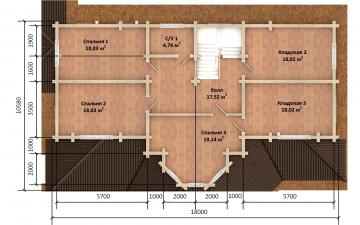 Фото #4: деревянный дом ПДБ-73 из клееного бруса купить за 30945613 (цена «Под ключ»)
