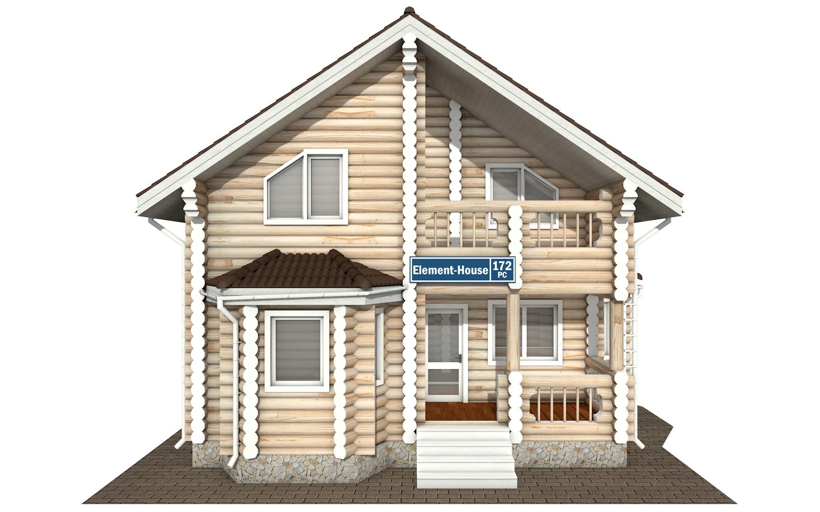 Фото #7: Красивый деревянный дом РС-172 из бревна