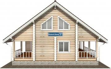 Фото #9: Красивый деревянный дом РС-183 из бревна