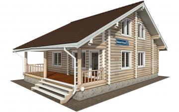 Фото #2: Красивый деревянный дом РС-173 из бревна