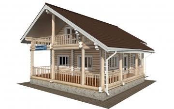 Фото #1: Красивый деревянный дом РС-174 из бревна