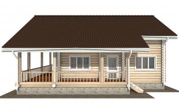 Фото #8: Красивый деревянный дом РС-174 из бревна