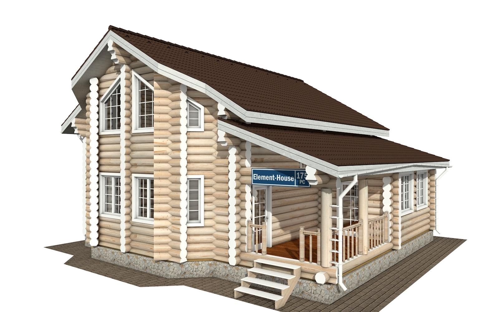 РС-175 - деревянный дома из бревна (из сруба)
