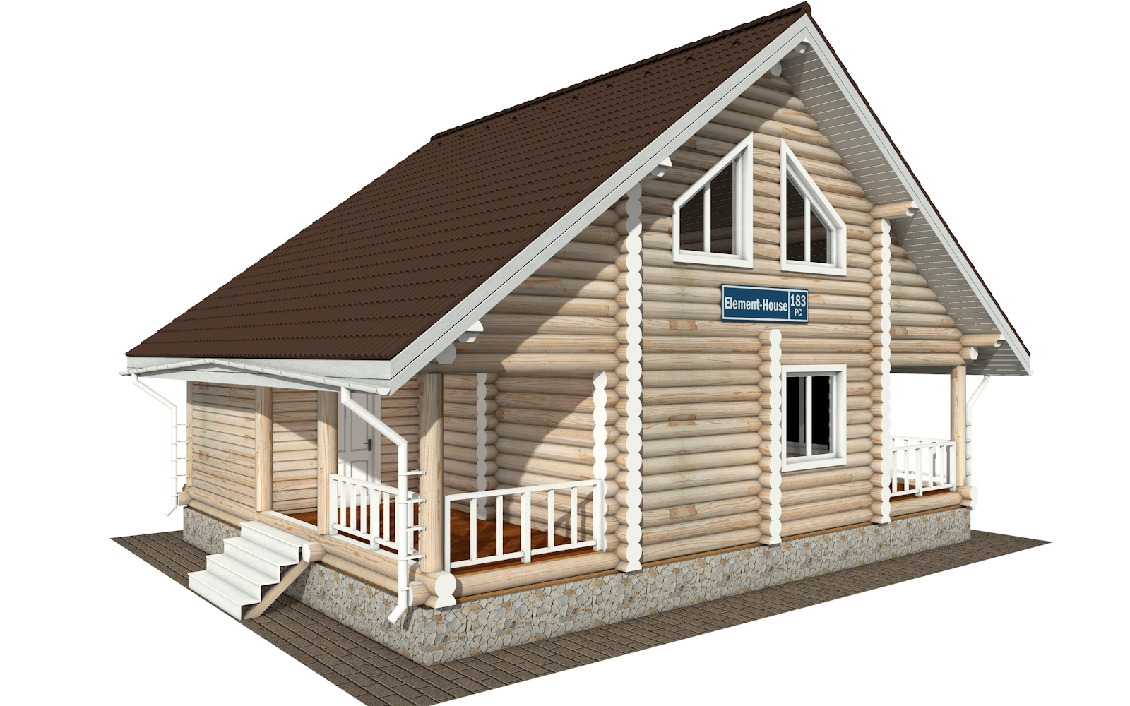 Фото #5: Красивый деревянный дом РС-183 из бревна