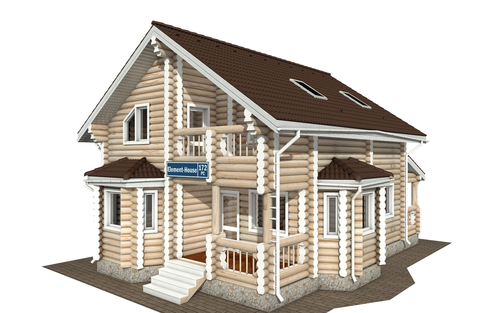 Фото #2: Красивый деревянный дом РС-172 из бревна