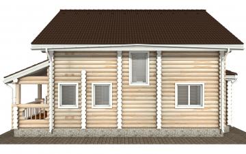 Фото #8: Красивый деревянный дом РС-172 из бревна