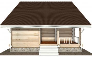 Фото #8: Красивый деревянный дом РС-183 из бревна