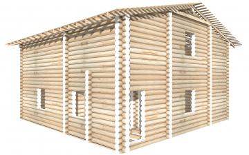СТ-78 - Сруб 10 на 10 для дома или бани из бревна: цена от производителя (Киров)