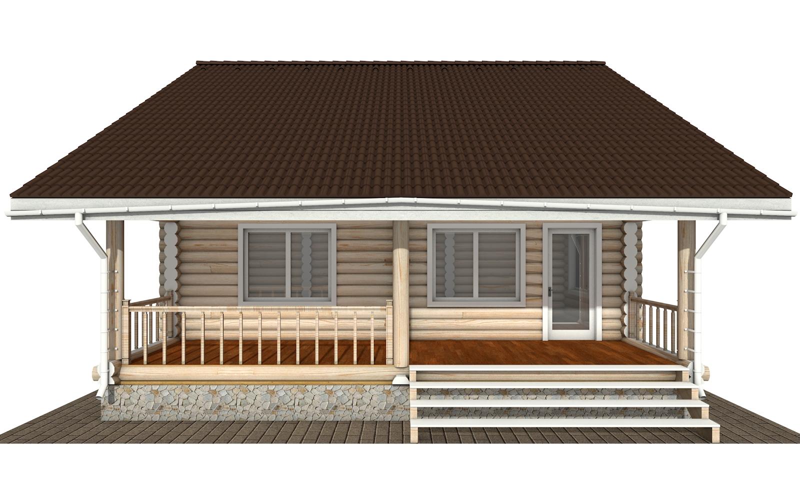 Фото #8: Красивый деревянный дом РС-173 из бревна