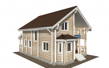 Фото #6: Красивый деревянный дом РС-172 из бревна