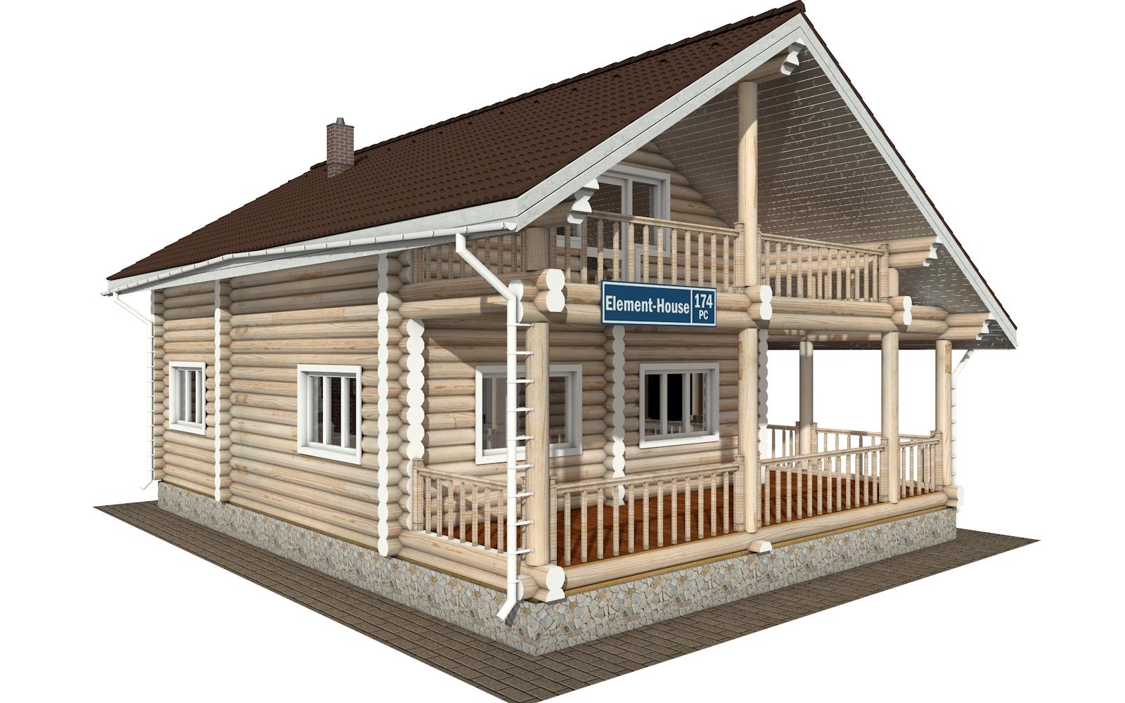 Фото #5: Красивый деревянный дом РС-174 из бревна