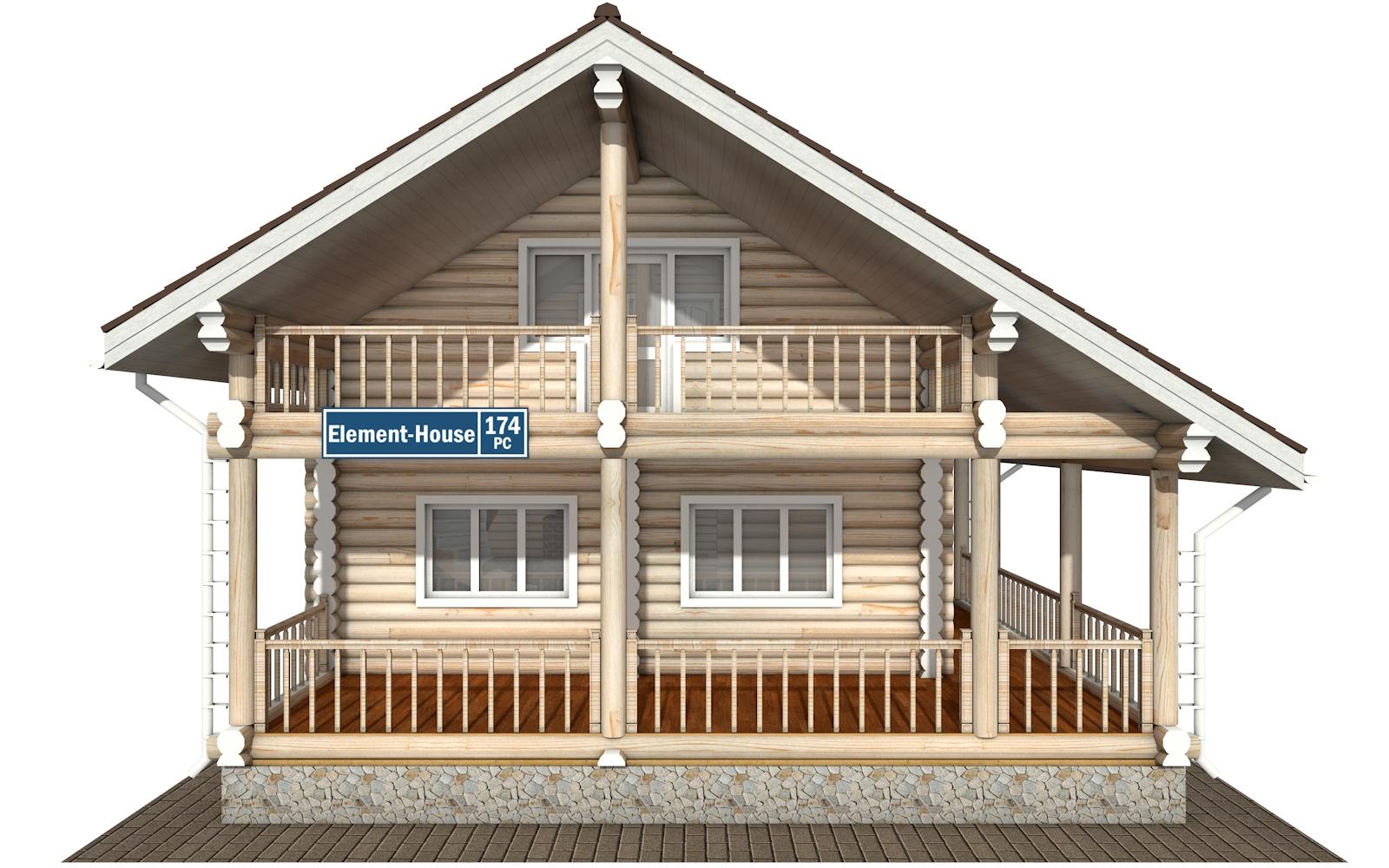 Фото #7: Красивый деревянный дом РС-174 из бревна
