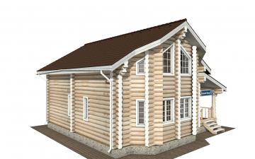 Фото #5: Красивый деревянный дом РС-175 из бревна