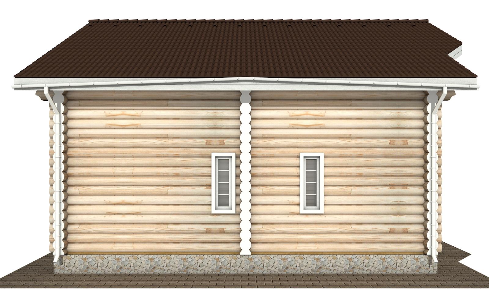 Фото #8: Красивый деревянный дом РС-175 из бревна