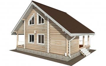 Фото #1: Красивый деревянный дом РС-183 из бревна