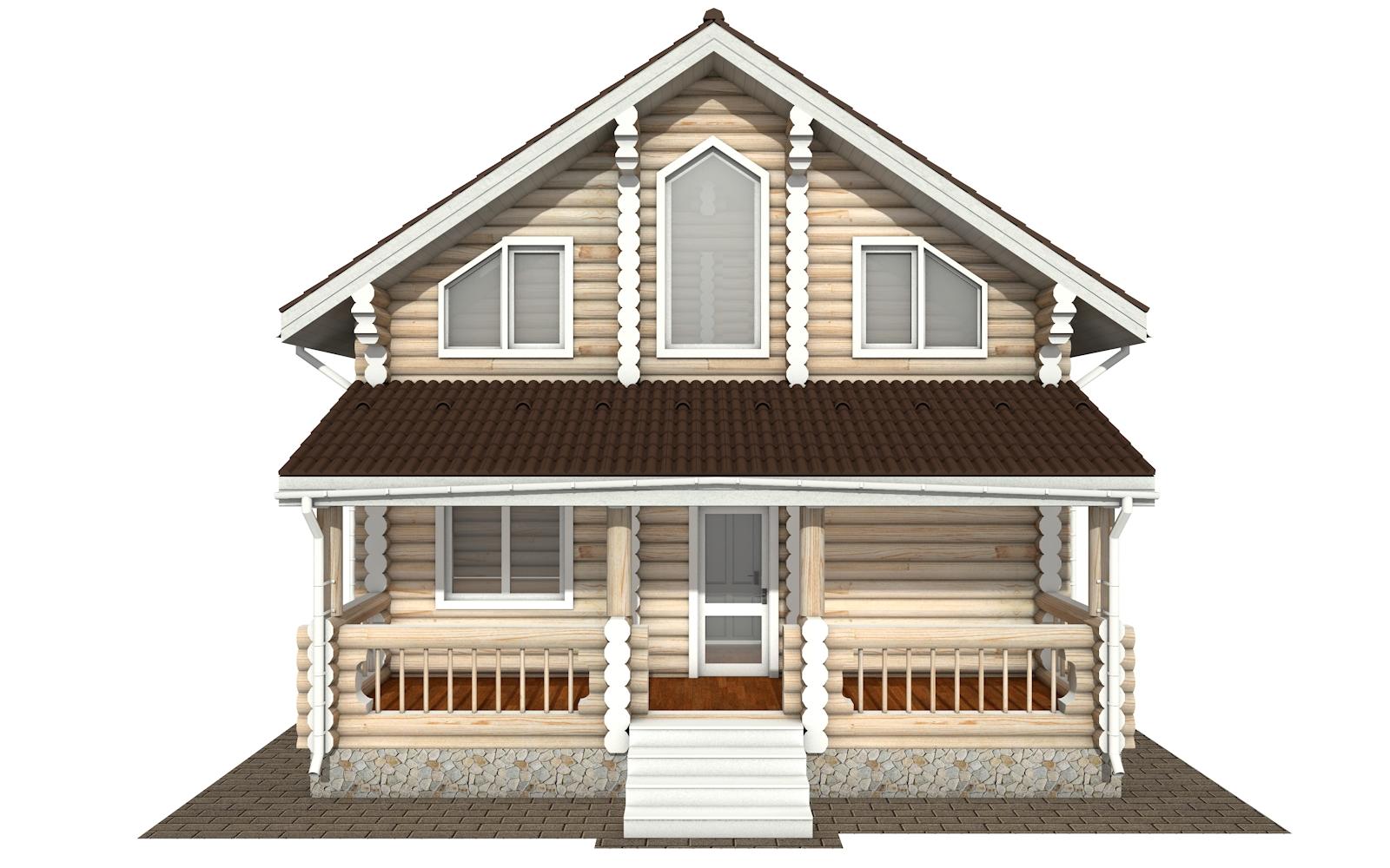 Фото #9: Красивый деревянный дом РС-172 из бревна