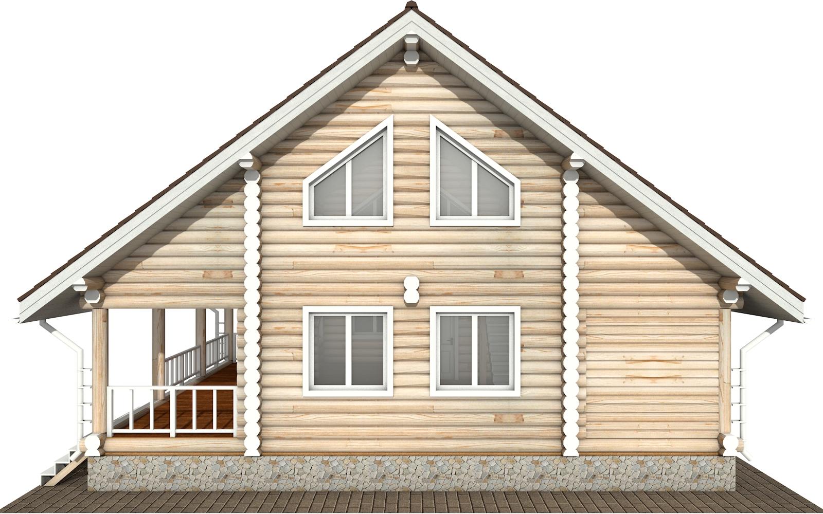 Фото #7: Красивый деревянный дом РС-183 из бревна