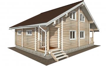 Фото #5: Красивый деревянный дом РС-173 из бревна