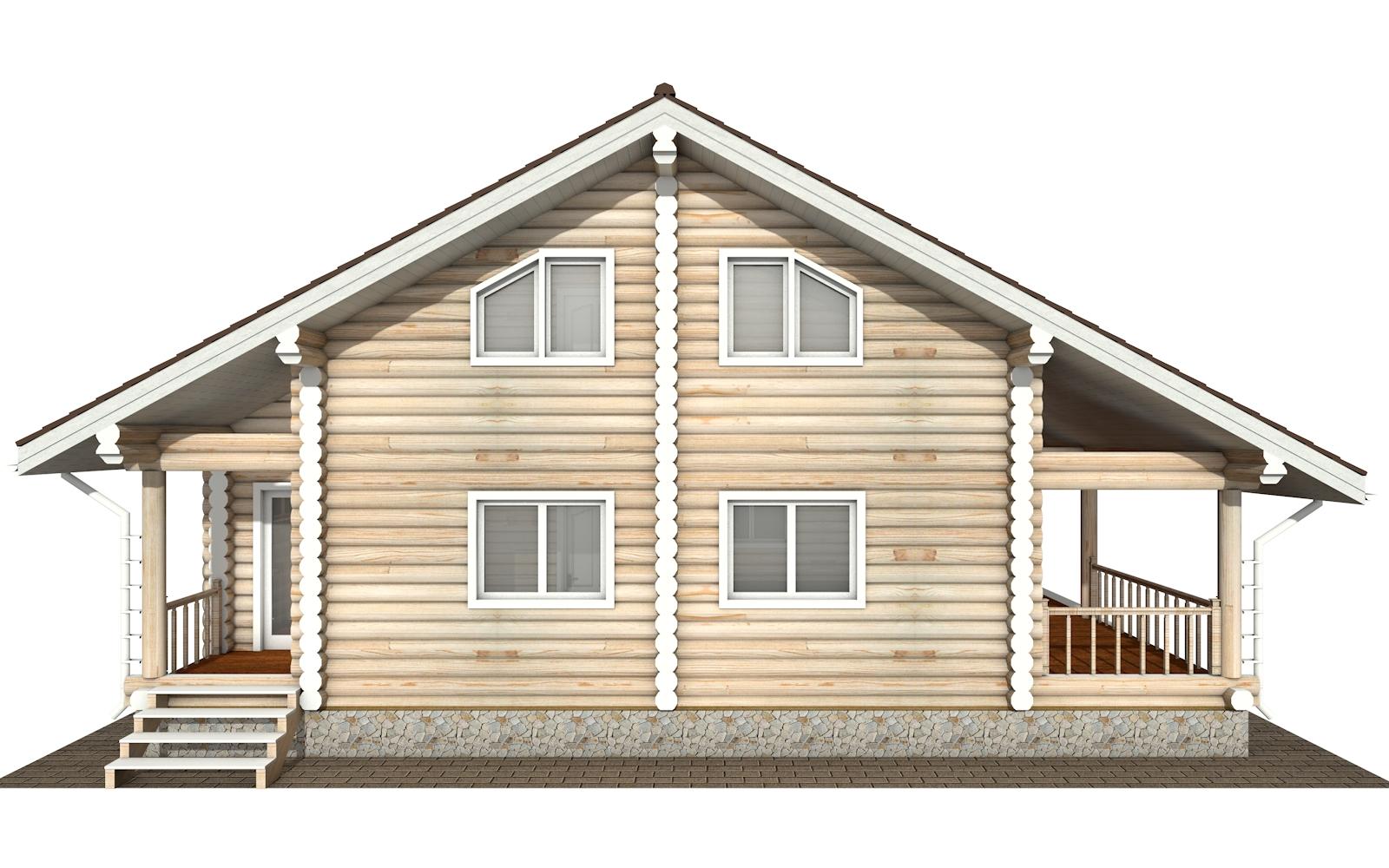 Фото #9: Красивый деревянный дом РС-173 из бревна