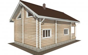 Фото #6: Красивый деревянный дом РС-174 из бревна