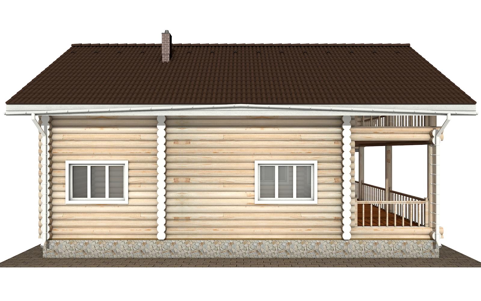 Фото #10: Красивый деревянный дом РС-174 из бревна