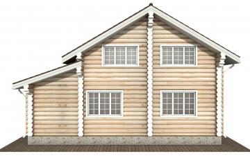 Фото #9: Красивый деревянный дом РС-175 из бревна
