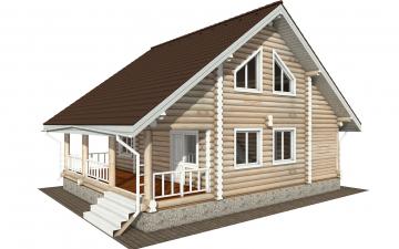 Фото #6: Красивый деревянный дом РС-183 из бревна