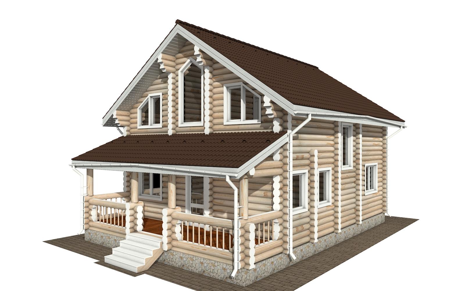 Фото #5: Красивый деревянный дом РС-172 из бревна
