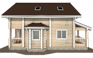 Фото #10: Красивый деревянный дом РС-172 из бревна